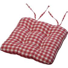 tie on square gingham chair seat pad cushion