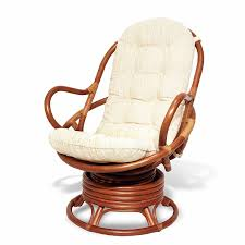 Amazon.com: Java Swivel Rocking Chair Colonial with Cushion Handmade  Natural Wicker Rattan Furniture: Kitchen & Dining