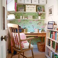 Home office wallpaper Contemporary Compact Country Home Office With Floral Wallpaper Youtube Country Home Office Pictures