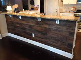 Peel And Stick Wood Flooring Underneath A Kitchen Bar Total