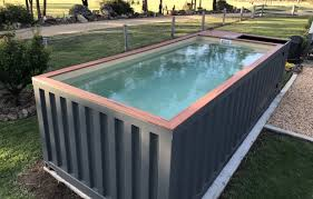 free standing fibreglass swimming pools. Interesting Standing The DIY Shipping Container Swimming Pool And Free Standing Fibreglass Pools T