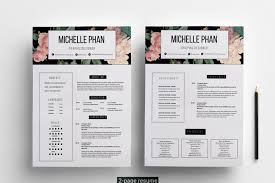 2 Page Cv Template Floral 2 Page Cv Template Resume Template By Chic