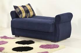 blue sleeper sectional sofa for small spaces