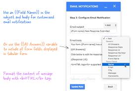 form to how to get google forms data in an email message