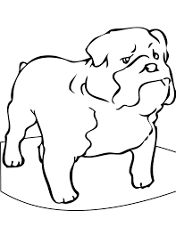 Small Picture Bulldog Coloring Pages French Bulldog Coloring Page Free Printable
