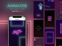 Animated Instagram Story Quotes Neon By Social Media Templates On