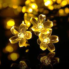 decorative string lighting. Buy Qedertek Fairy Blossom Flower Solar String Lights, 21ft 50 LED Christmas Decorative Lighting For Indoor And Outdoor, Home, Lawn, Garden, Wedding, Patio, T