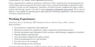 Resume For Auto Mechanic Custom Auto Mechanic Resume Sample Automotive Technician Resume Samples