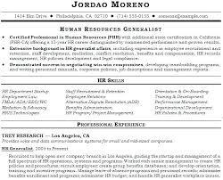 Human Resource Resume Templates Sample Hr Resumes Sample Hr Resumes
