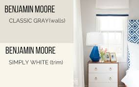 Paint Colors Benjamin Moore Classic Gray Bedroom And Simply White Trim