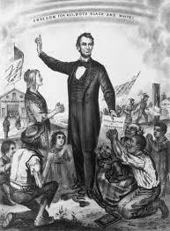 「1865, president lincoln signed document abolishing slavery」の画像検索結果