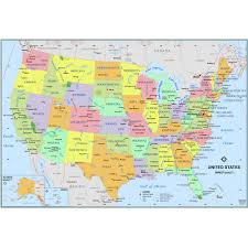 Simple United States Wall Map - The Map ...