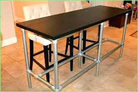 bar height table counter making kitchen a modern looks diy craft wood round he