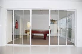 image of 4 panel sliding glass door patio
