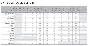 Salomon Ski Shoes Size Chart 77 Up To Date Salomon Womens Boot Size Chart
