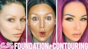 new free foundation routine contouring for pale skin