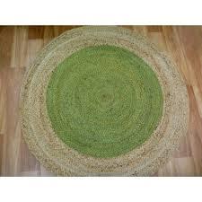 braided jute target green round circle floor rug