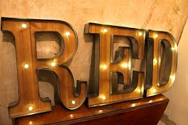 vintage marquee light up letter wall sign carnival circus illuminated fairground letters lighted objects bar decoration