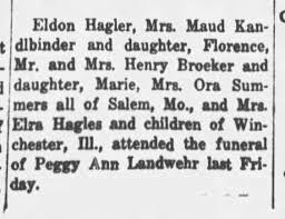 Ora Summers / Mr. & Mrs. Henry Brocker attend funeral in 1941 -  Newspapers.com