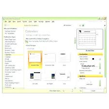 Microsoft Templates For Publisher Publisher Calendar Template For Main Templates Window