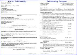 How To Write Impressive Resume For Scholarship Scholarship Resume Template