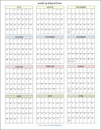 Free Printable School Calendar Academic Calendars For 2018 19 School Year Free Printable