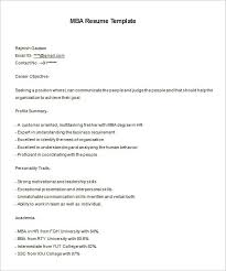 Mba Resume Template 11 Free Samples Examples Format Awesome