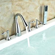2 handle bathtub faucet deck mount bathtub faucet delta stainless 2 handle adjule deck mount bathtub
