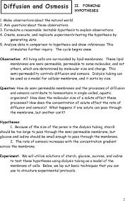 Diffusion And Osmosis Lab Report Diffusion And Osmosis Pdf