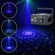 Suny Laser Lights Stages Lighting 24 Green Blue Patterns Gobos Projectors Sound Activated Music Laser Projector Remote Control Led Party Lights Dance