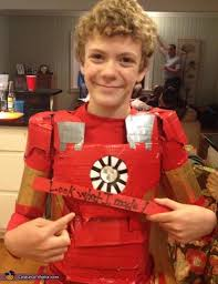 tynan age 11 with his hand made costume iron man costume