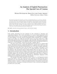 Pdf An Analysis Of English Punctuation The Special Case Of Comma
