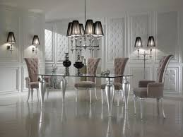 italian glass furniture. Black And White Dining Room Decor With Italian Glass Top Tables Modern Furniture Sets Plus Luxury Interior Design I