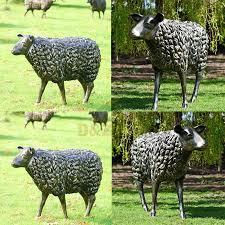 outdoor lamb garden statue for
