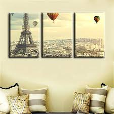 home office wall decor decoration wall art famous tower and balloon painting print for home office home office wall decor