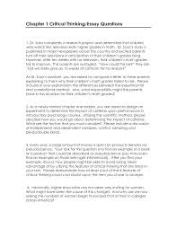 Essay About Critical Thinking Critical Thinking Essay Examples Helptangle
