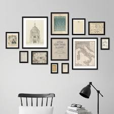 Wall Design Photos Gallery 12pc Gallery Wall Set Q20 Matrix Qik Frame