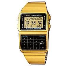amazon com casio dbc611g 1d men s gold tone 25 memory calculator casio dbc611g 1d men s gold tone 25 memory calculator databank watch