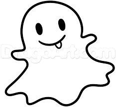 simple ghost drawing. how to draw the snapchat ghost step 4 simple drawing