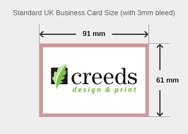 What Is A Standard Business Card Size Creeds Design Print