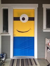 front door minion party decor