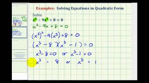 rational exponents done ex 2 solving equations in quadratic form higher powers