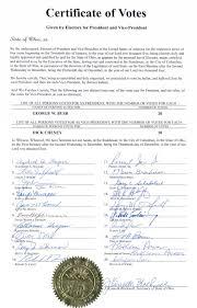 u s electoral college certificate ohio certificate of vote page 1 of 1