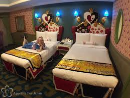 Inside Tokyo Disneyland Hotel's Alice in Wonderland Themed Room