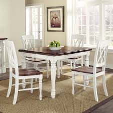 home styles monarch 5 piece dining table with 4 double x back chairs white oak hayneedle