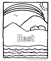 Small Picture Coloring Pages About Creation Coloring Pages