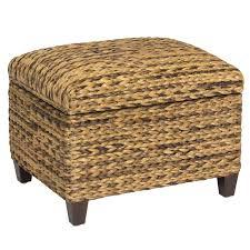 wicker ottoman rattan ottomans footstools seagrass ella home coffee tables pouf round table media console furniture white unit black center stand low tv big