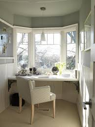 this feel for my bay window desk area at end of tiny house living room enclose the front on both sides and add shelving for storage under desk