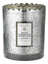 <b>Ароматическая свеча White Currants</b> &amp; Alpine Lace (белая ...