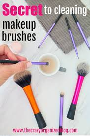 here to find out my favorite tip to clean makeup brushes the secret household